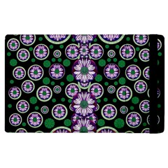 Fantasy Flower Forest  In Peacock Jungle Wood Apple Ipad 3/4 Flip Case by pepitasart