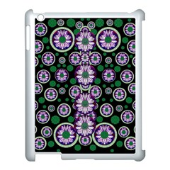 Fantasy Flower Forest  In Peacock Jungle Wood Apple Ipad 3/4 Case (white) by pepitasart