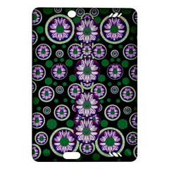 Fantasy Flower Forest  In Peacock Jungle Wood Amazon Kindle Fire Hd (2013) Hardshell Case by pepitasart