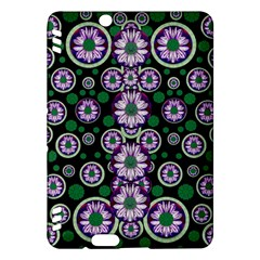 Fantasy Flower Forest  In Peacock Jungle Wood Kindle Fire Hdx Hardshell Case