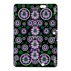 Fantasy Flower Forest  In Peacock Jungle Wood Kindle Fire Hdx 8 9  Hardshell Case by pepitasart