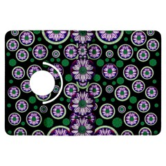 Fantasy Flower Forest  In Peacock Jungle Wood Kindle Fire Hdx Flip 360 Case by pepitasart