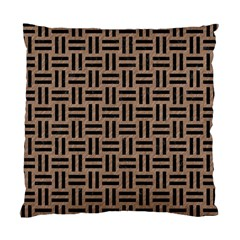 Woven1 Black Marble & Brown Colored Pencil (r) Standard Cushion Case (two Sides) by trendistuff