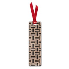 Woven1 Black Marble & Brown Colored Pencil (r) Small Book Mark by trendistuff