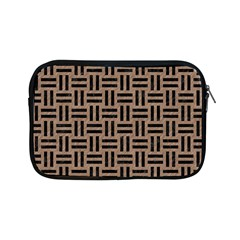 Woven1 Black Marble & Brown Colored Pencil (r) Apple Ipad Mini Zipper Case by trendistuff