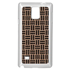 Woven1 Black Marble & Brown Colored Pencil (r) Samsung Galaxy Note 4 Case (white) by trendistuff
