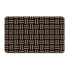 Woven1 Black Marble & Brown Colored Pencil Magnet (rectangular) by trendistuff
