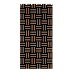 Woven1 Black Marble & Brown Colored Pencil Shower Curtain 36  X 72  (stall) by trendistuff