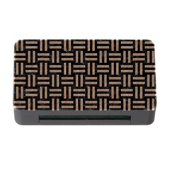 Woven1 Black Marble & Brown Colored Pencil Memory Card Reader With Cf by trendistuff
