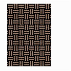 Woven1 Black Marble & Brown Colored Pencil Large Garden Flag (two Sides)
