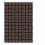WOVEN1 BLACK MARBLE & BROWN COLORED PENCIL Large Garden Flag (Two Sides) Back