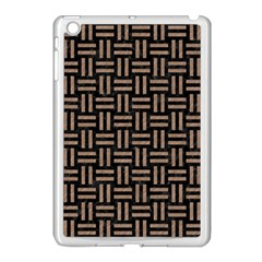 Woven1 Black Marble & Brown Colored Pencil Apple Ipad Mini Case (white) by trendistuff