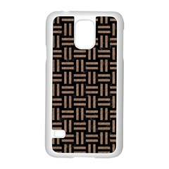 Woven1 Black Marble & Brown Colored Pencil Samsung Galaxy S5 Case (white) by trendistuff