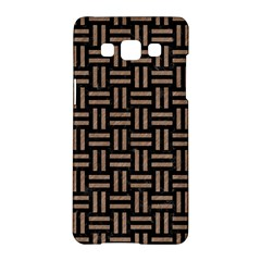 Woven1 Black Marble & Brown Colored Pencil Samsung Galaxy A5 Hardshell Case  by trendistuff