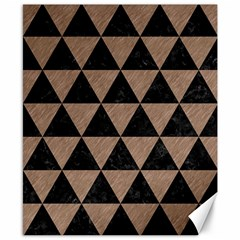 Triangle3 Black Marble & Brown Colored Pencil Canvas 8  X 10  by trendistuff