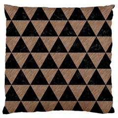 Triangle3 Black Marble & Brown Colored Pencil Standard Flano Cushion Case (one Side) by trendistuff