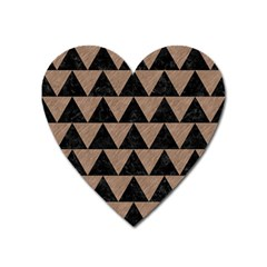 Triangle2 Black Marble & Brown Colored Pencil Magnet (heart) by trendistuff