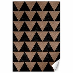 Triangle2 Black Marble & Brown Colored Pencil Canvas 20  X 30  by trendistuff