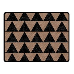 Triangle2 Black Marble & Brown Colored Pencil Fleece Blanket (small) by trendistuff
