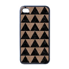 Triangle2 Black Marble & Brown Colored Pencil Apple Iphone 4 Case (black) by trendistuff