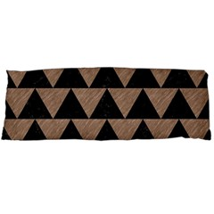 Triangle2 Black Marble & Brown Colored Pencil Body Pillow Case Dakimakura (two Sides) by trendistuff