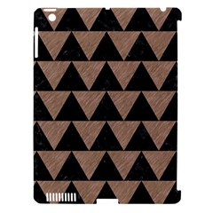Triangle2 Black Marble & Brown Colored Pencil Apple Ipad 3/4 Hardshell Case (compatible With Smart Cover) by trendistuff