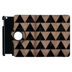 Triangle2 Black Marble & Brown Colored Pencil Apple Ipad 3/4 Flip 360 Case by trendistuff