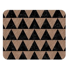 Triangle2 Black Marble & Brown Colored Pencil Double Sided Flano Blanket (large) by trendistuff