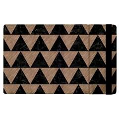 Triangle2 Black Marble & Brown Colored Pencil Apple Ipad Pro 9 7   Flip Case by trendistuff