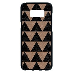 Triangle2 Black Marble & Brown Colored Pencil Samsung Galaxy S8 Plus Black Seamless Case by trendistuff