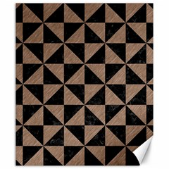 Triangle1 Black Marble & Brown Colored Pencil Canvas 20  X 24  by trendistuff