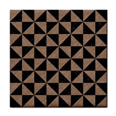 Triangle1 Black Marble & Brown Colored Pencil Face Towel by trendistuff