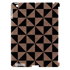 Triangle1 Black Marble & Brown Colored Pencil Apple Ipad 3/4 Hardshell Case (compatible With Smart Cover) by trendistuff