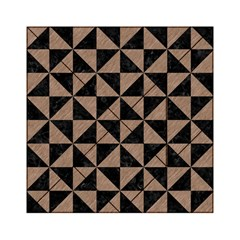 Triangle1 Black Marble & Brown Colored Pencil Acrylic Tangram Puzzle (6  X 6 ) by trendistuff