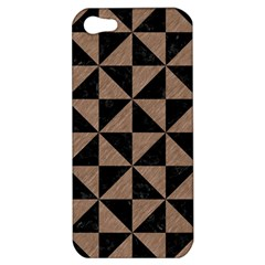 Triangle1 Black Marble & Brown Colored Pencil Apple Iphone 5 Hardshell Case by trendistuff