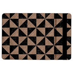 Triangle1 Black Marble & Brown Colored Pencil Apple Ipad Air 2 Flip Case by trendistuff