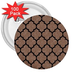Tile1 Black Marble & Brown Colored Pencil (r) 3  Button (100 Pack) by trendistuff