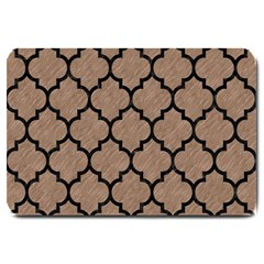Tile1 Black Marble & Brown Colored Pencil (r) Large Doormat by trendistuff
