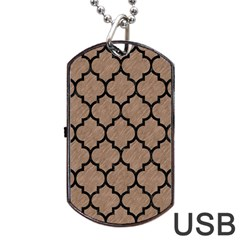Tile1 Black Marble & Brown Colored Pencil (r) Dog Tag Usb Flash (one Side) by trendistuff