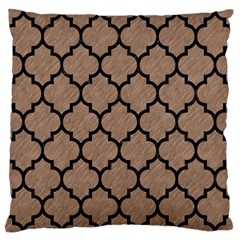 Tile1 Black Marble & Brown Colored Pencil (r) Large Flano Cushion Case (one Side) by trendistuff