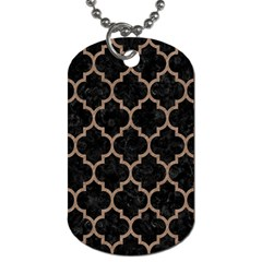 Tile1 Black Marble & Brown Colored Pencil Dog Tag (two Sides) by trendistuff