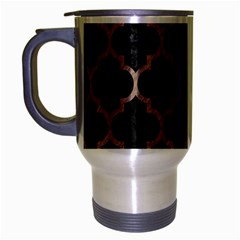 Tile1 Black Marble & Brown Colored Pencil Travel Mug (silver Gray) by trendistuff