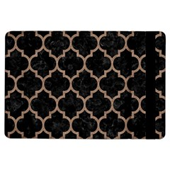 Tile1 Black Marble & Brown Colored Pencil Apple Ipad Air Flip Case