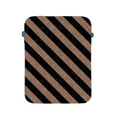 Stripes3 Black Marble & Brown Colored Pencil (r) Apple Ipad 2/3/4 Protective Soft Case by trendistuff
