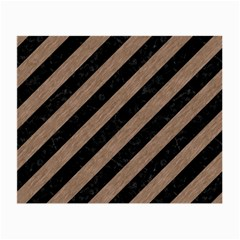 Stripes3 Black Marble & Brown Colored Pencil Small Glasses Cloth by trendistuff