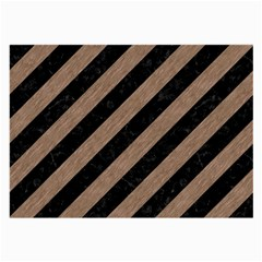 Stripes3 Black Marble & Brown Colored Pencil Large Glasses Cloth (2 Sides) by trendistuff