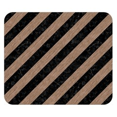 Stripes3 Black Marble & Brown Colored Pencil Double Sided Flano Blanket (small) by trendistuff