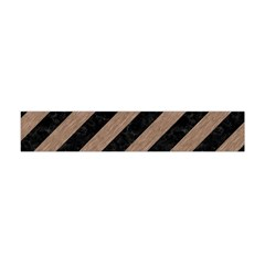 Stripes3 Black Marble & Brown Colored Pencil Flano Scarf (mini) by trendistuff