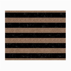 Stripes2 Black Marble & Brown Colored Pencil Small Glasses Cloth by trendistuff