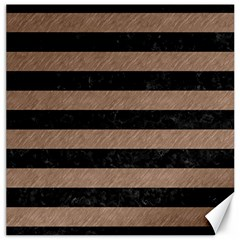 Stripes2 Black Marble & Brown Colored Pencil Canvas 16  X 16  by trendistuff